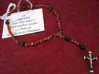 Coral and Lava Rosary