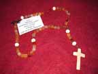 Carnelian and Carved Bone Rosary