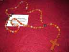 Carnelian and Goldstone Rosary