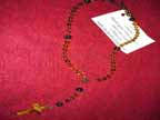 Citrene, Black Agate, and Tiger Eye Rosary